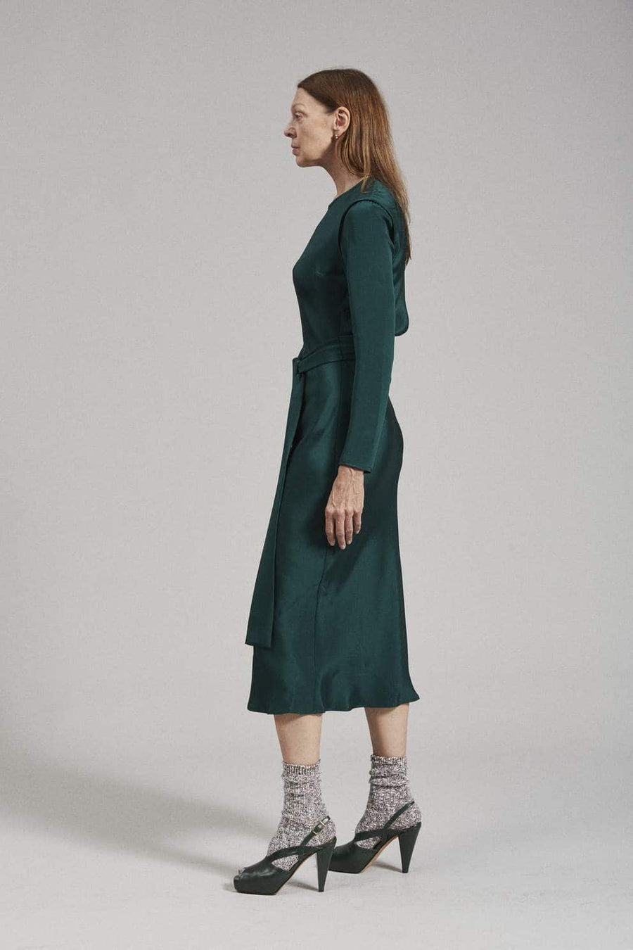 Saranac Dress-forest green
