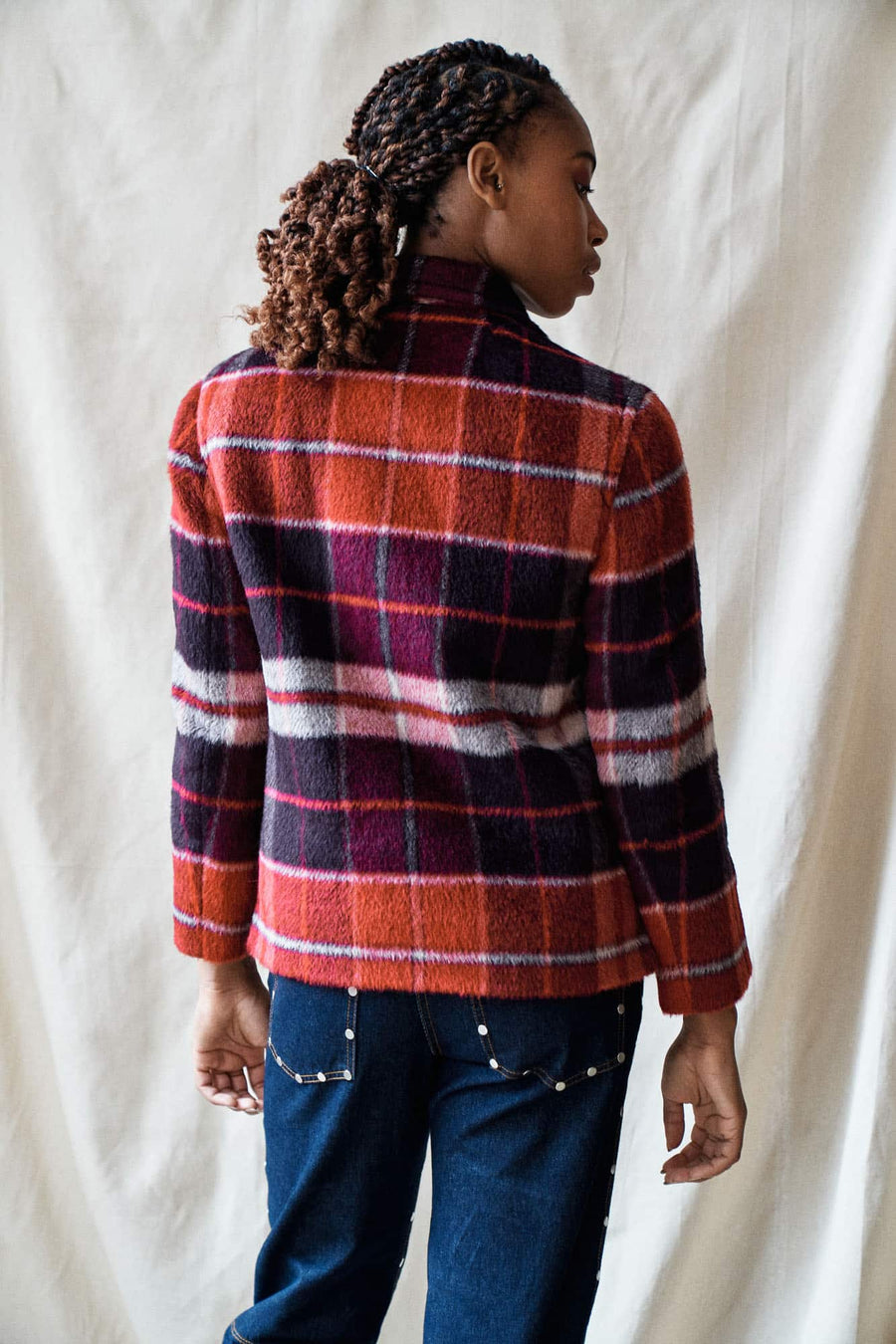 Valley Plaid Jacket-red
