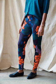 Have Floral Leggings-purple