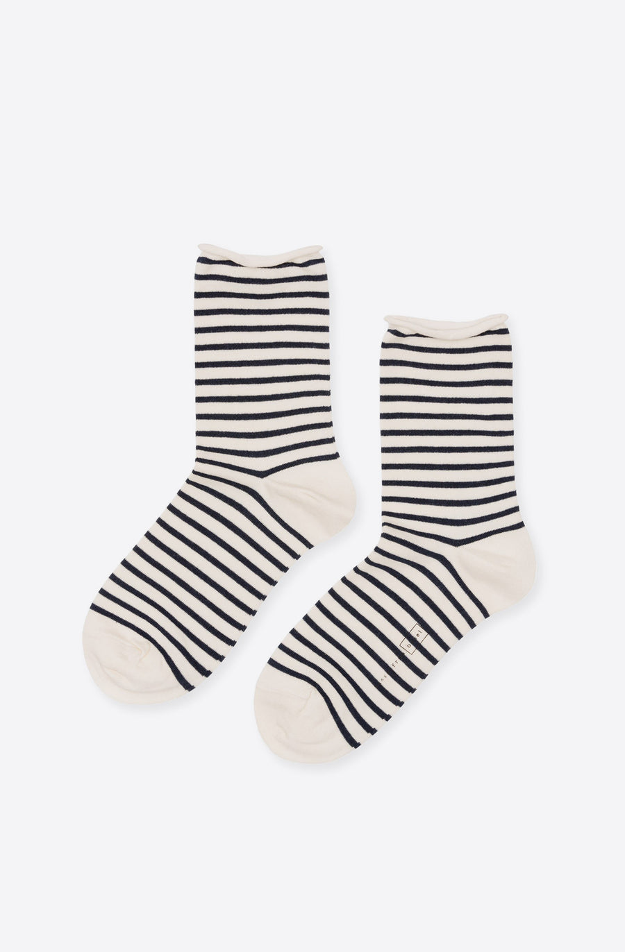 Nautical Stripe Crew Socks-blue