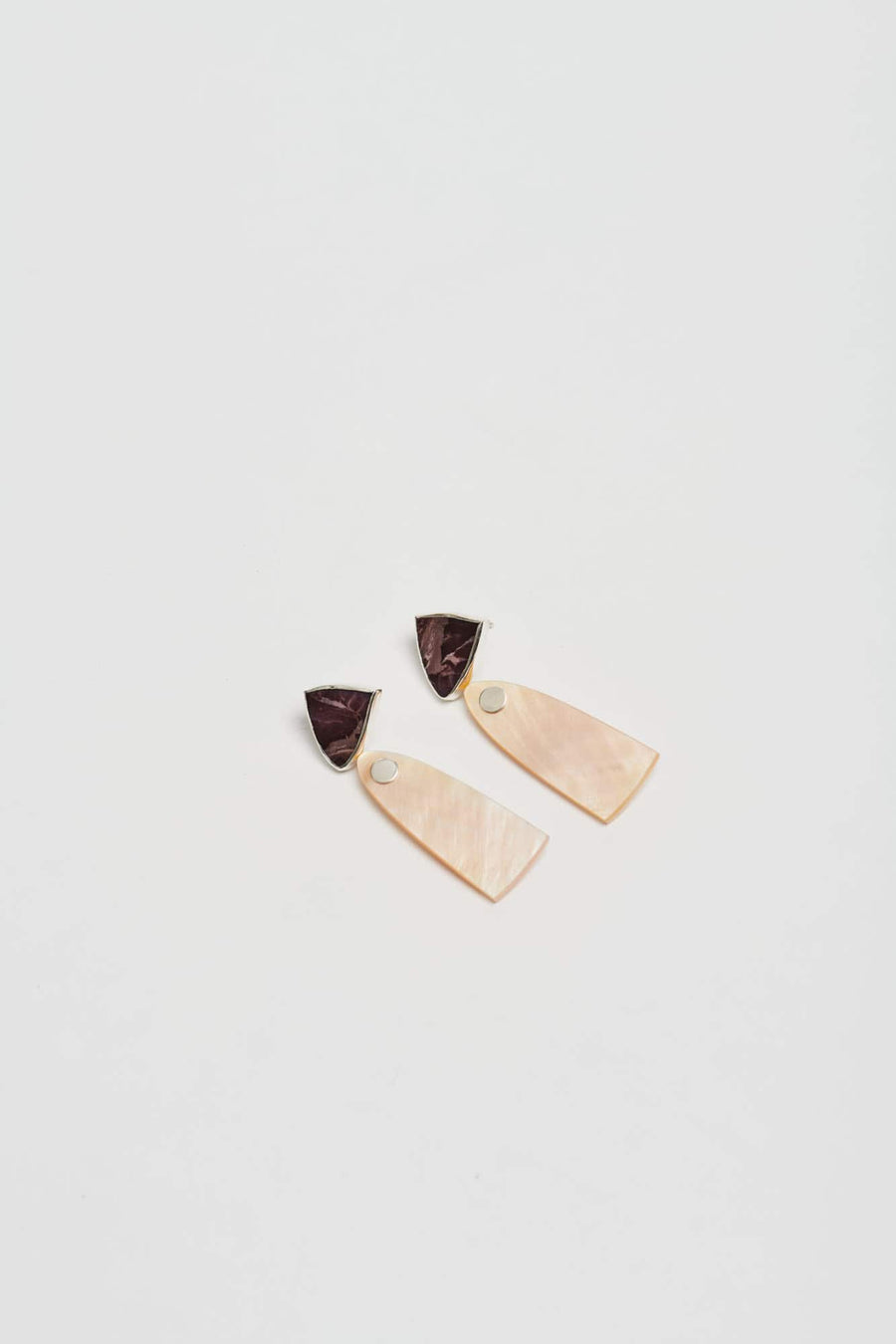 Duo Drop Earrings-Golden Mother of Pearl
