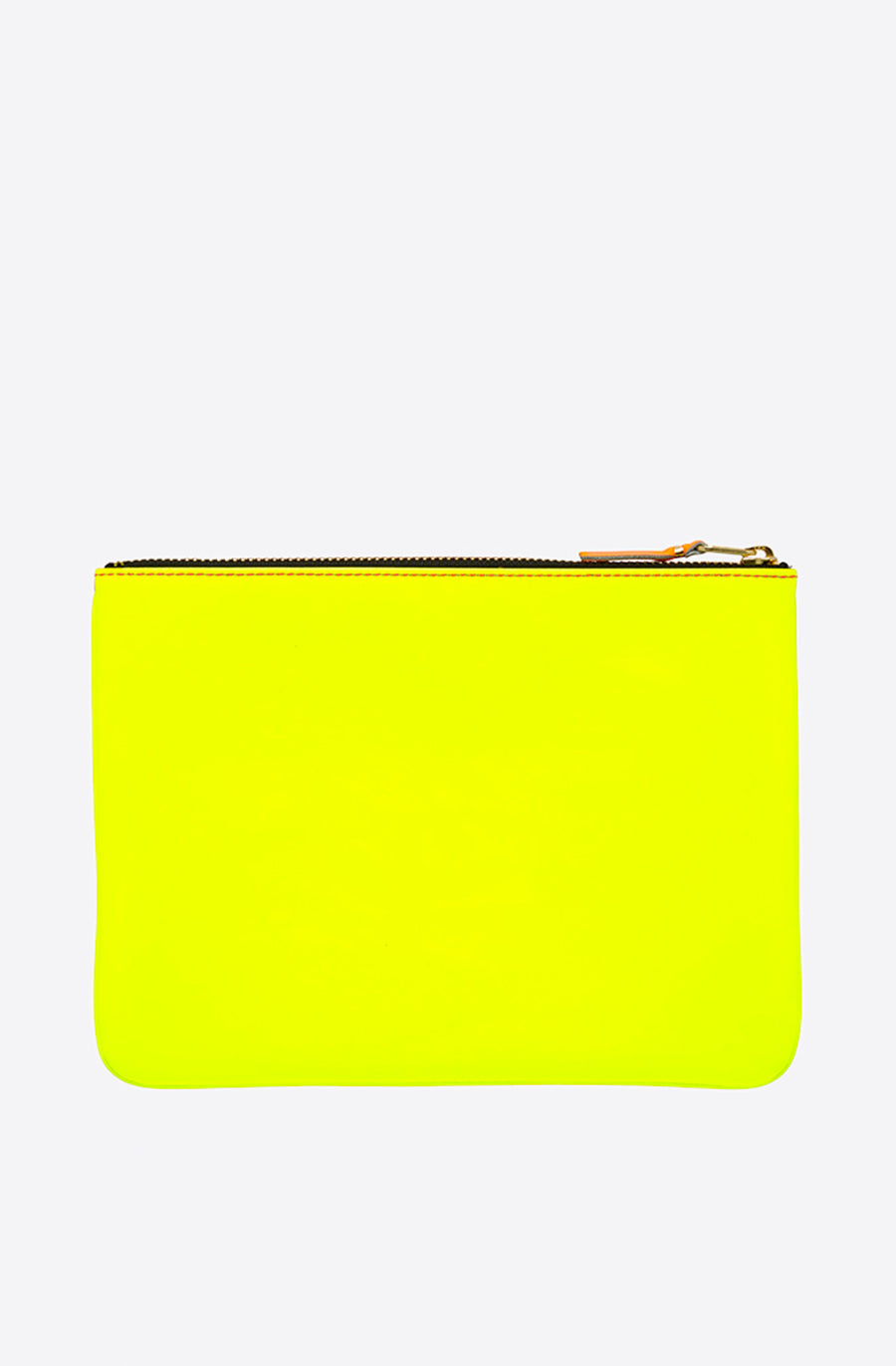 Super Fluo Large Zip Pouch-pink/yellow