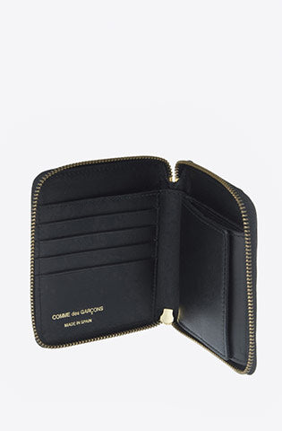 Classic Leather Zip-Around Wallet-black