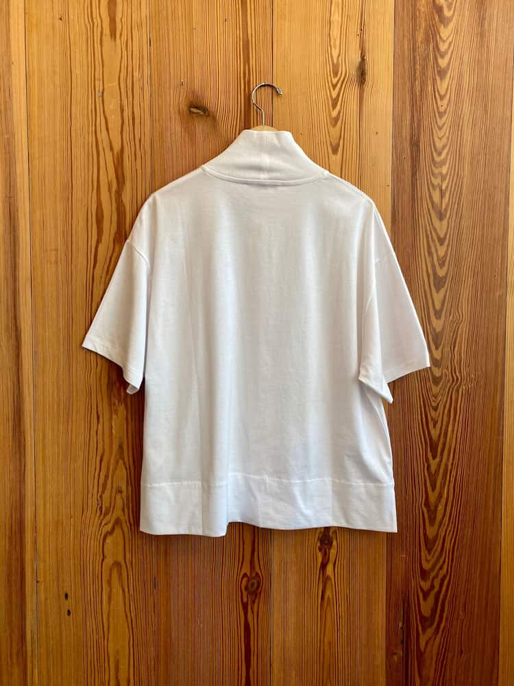 Mirka Mock Neck T-Shirt-optic white
