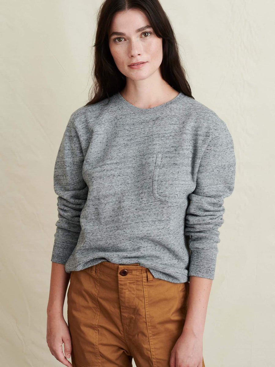 Heather Crewneck Sweatshirt-heather grey