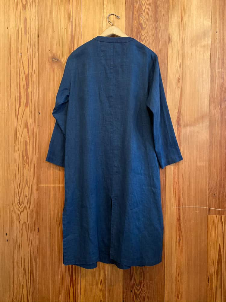 Long Shirt Dress-indigo