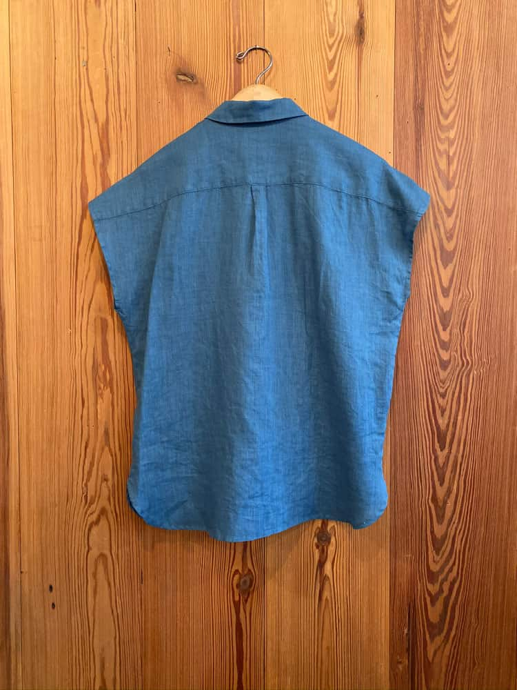 French Sleeve Shirt-blue