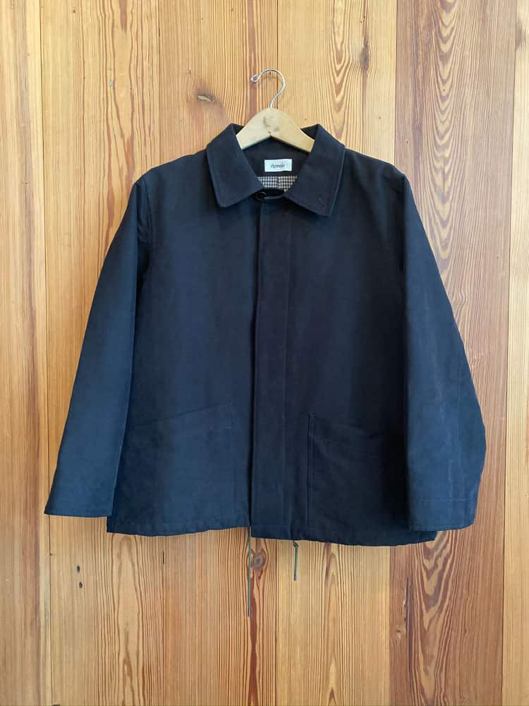 Peach Skin Blouson Jacket-black