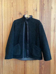 Stand Collar Snap Jacket-black