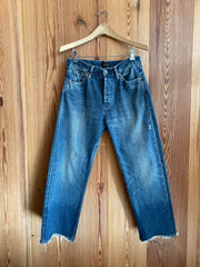 Selvedge Denim Used Ankle Cut Jean-vintage light