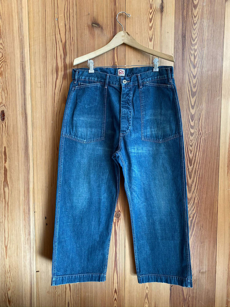 30's US Army Denim Work Pant-indigo
