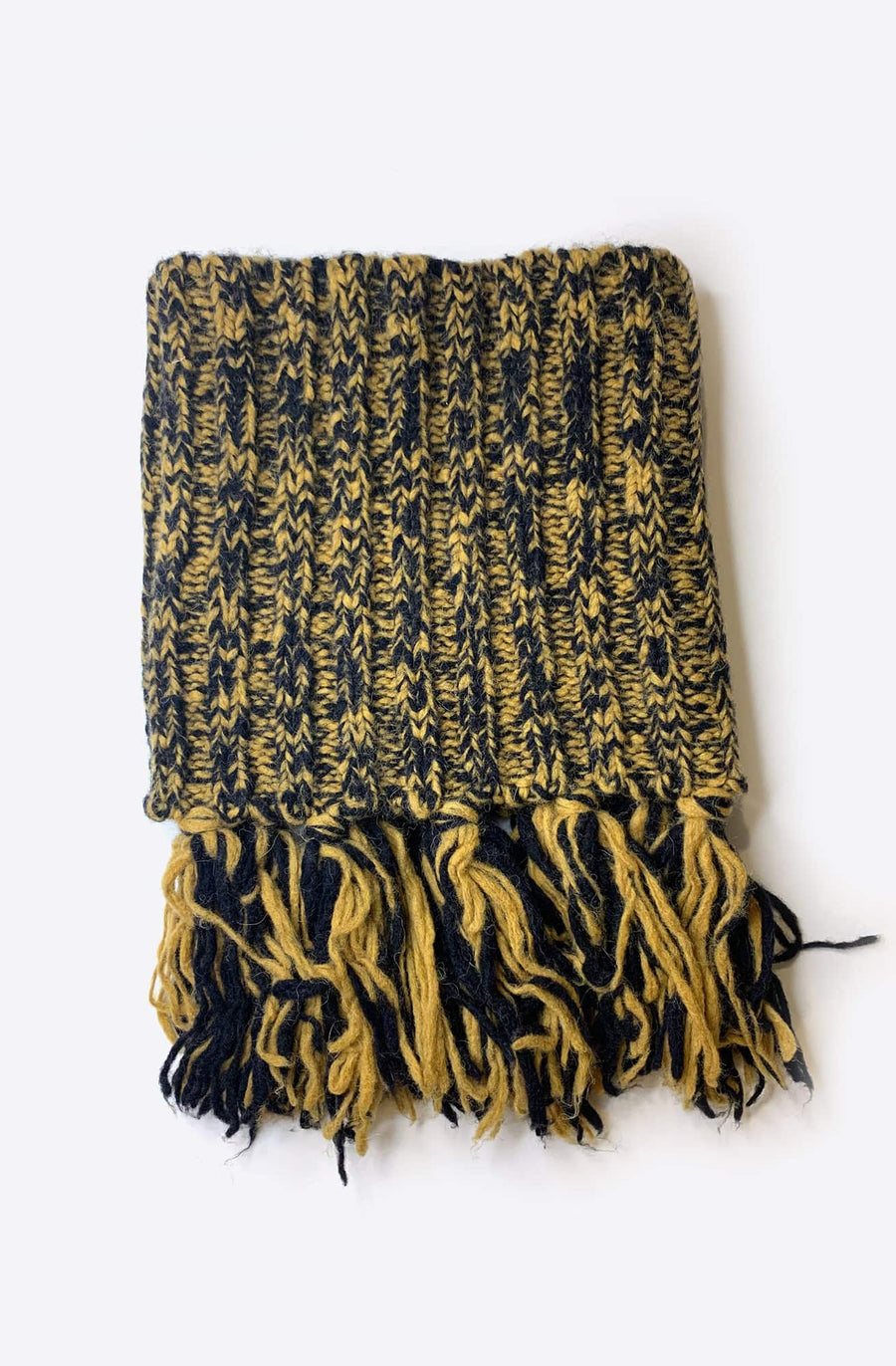 Mario Fringed Snood-mustard