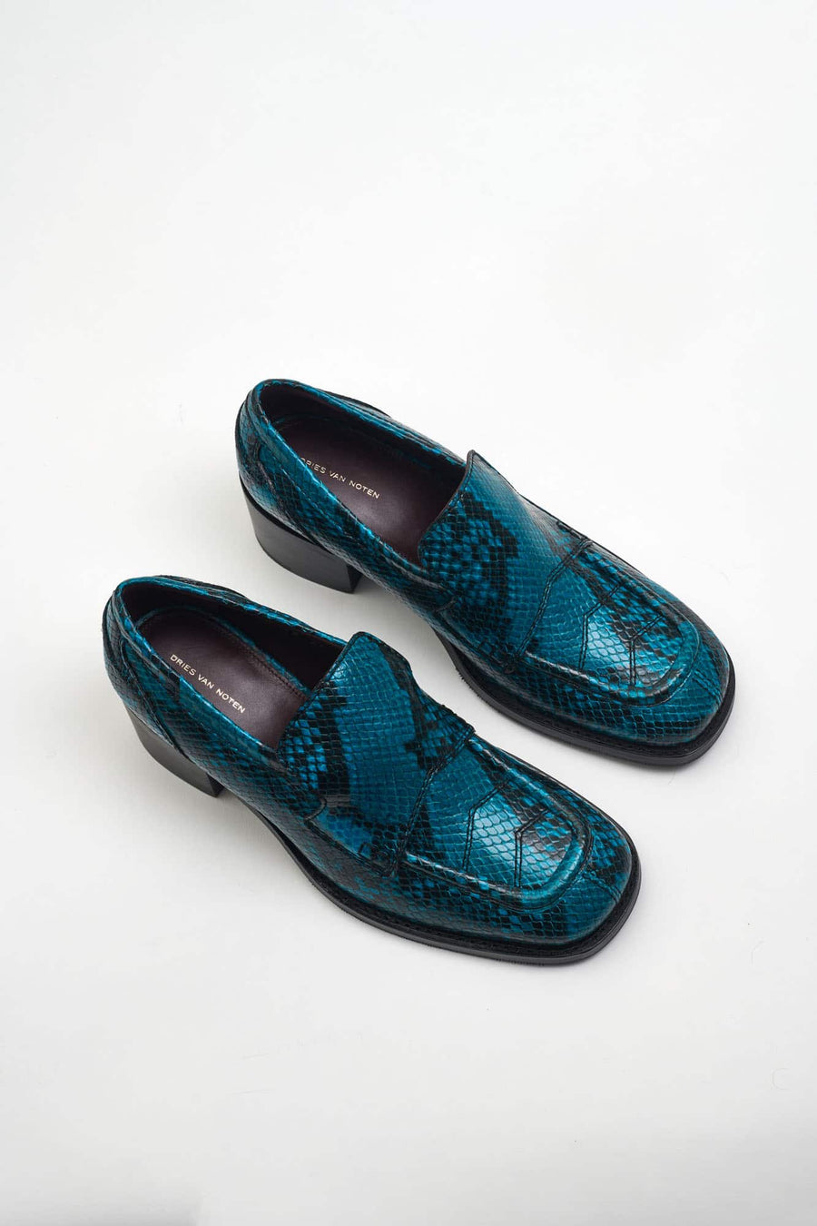Heeled Loafer-turquoise
