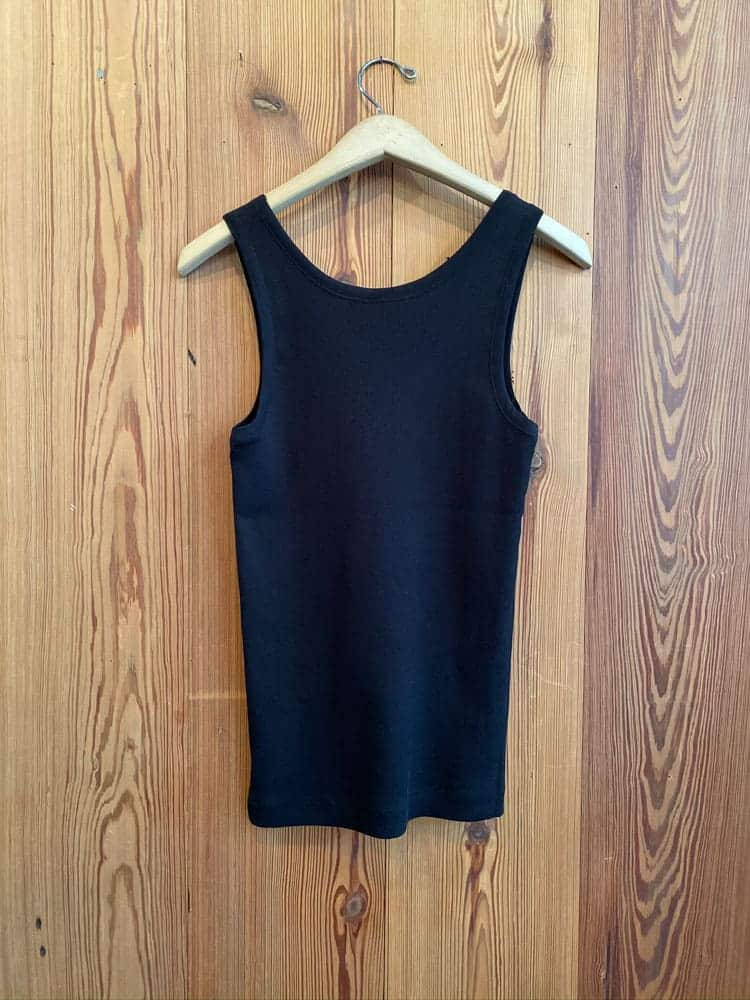 Herman Ribbed Tank-black