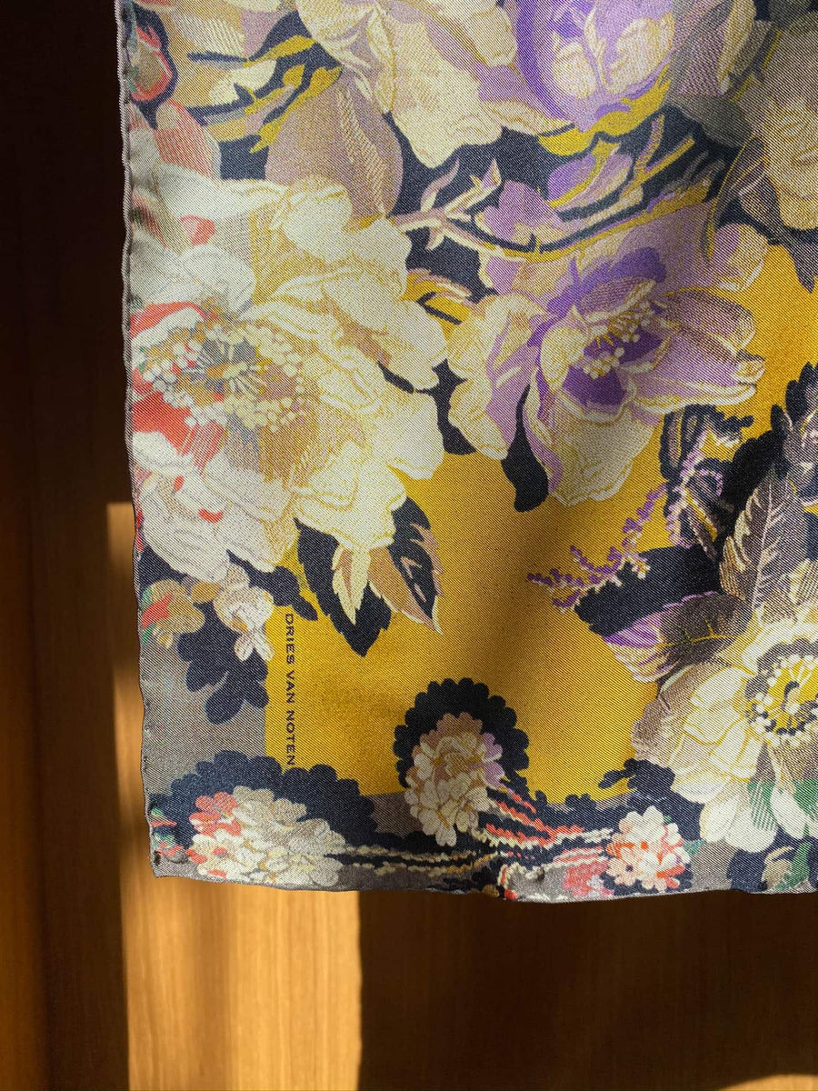 Flamboyant Floral Scarf-yellow