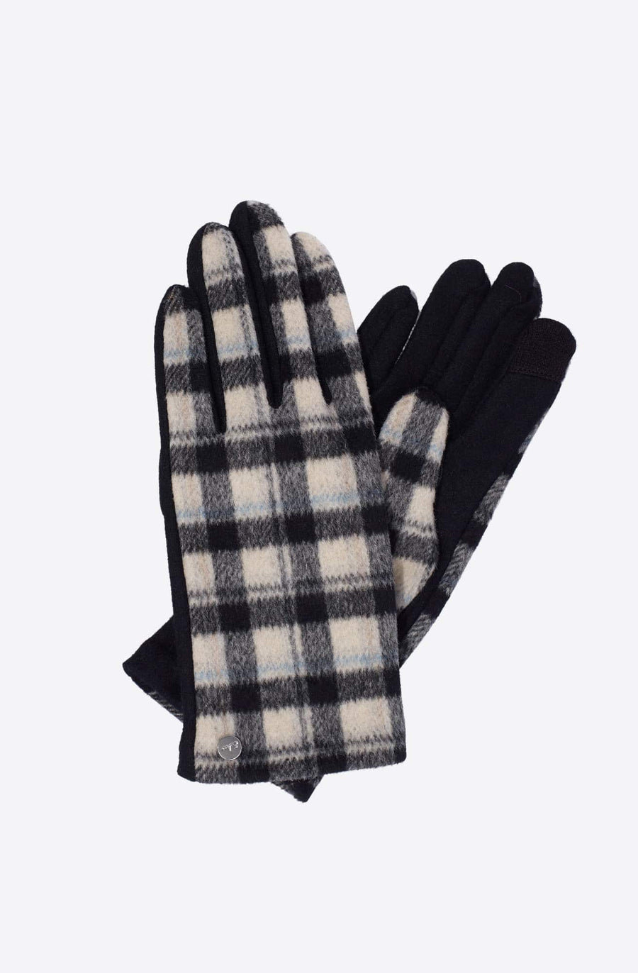 Plaid Touch Glove-black