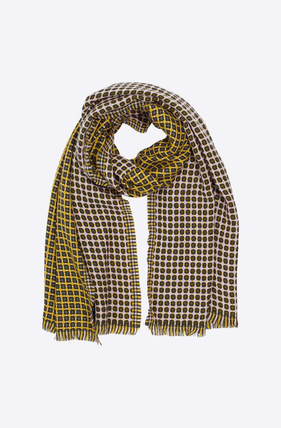 Cross Dot Scarf-dark olive