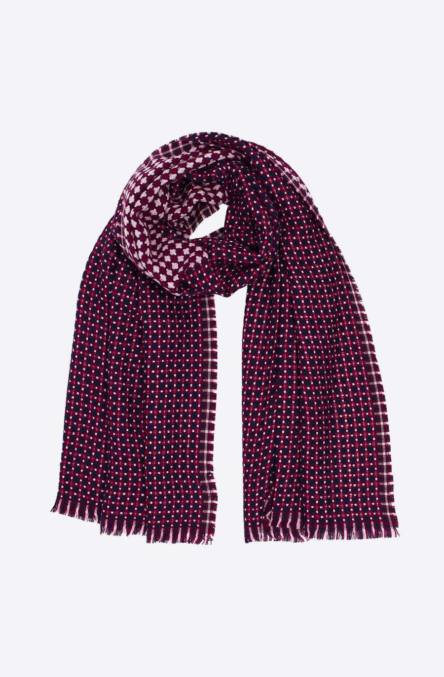 Cross Dot Scarf-pale lilac