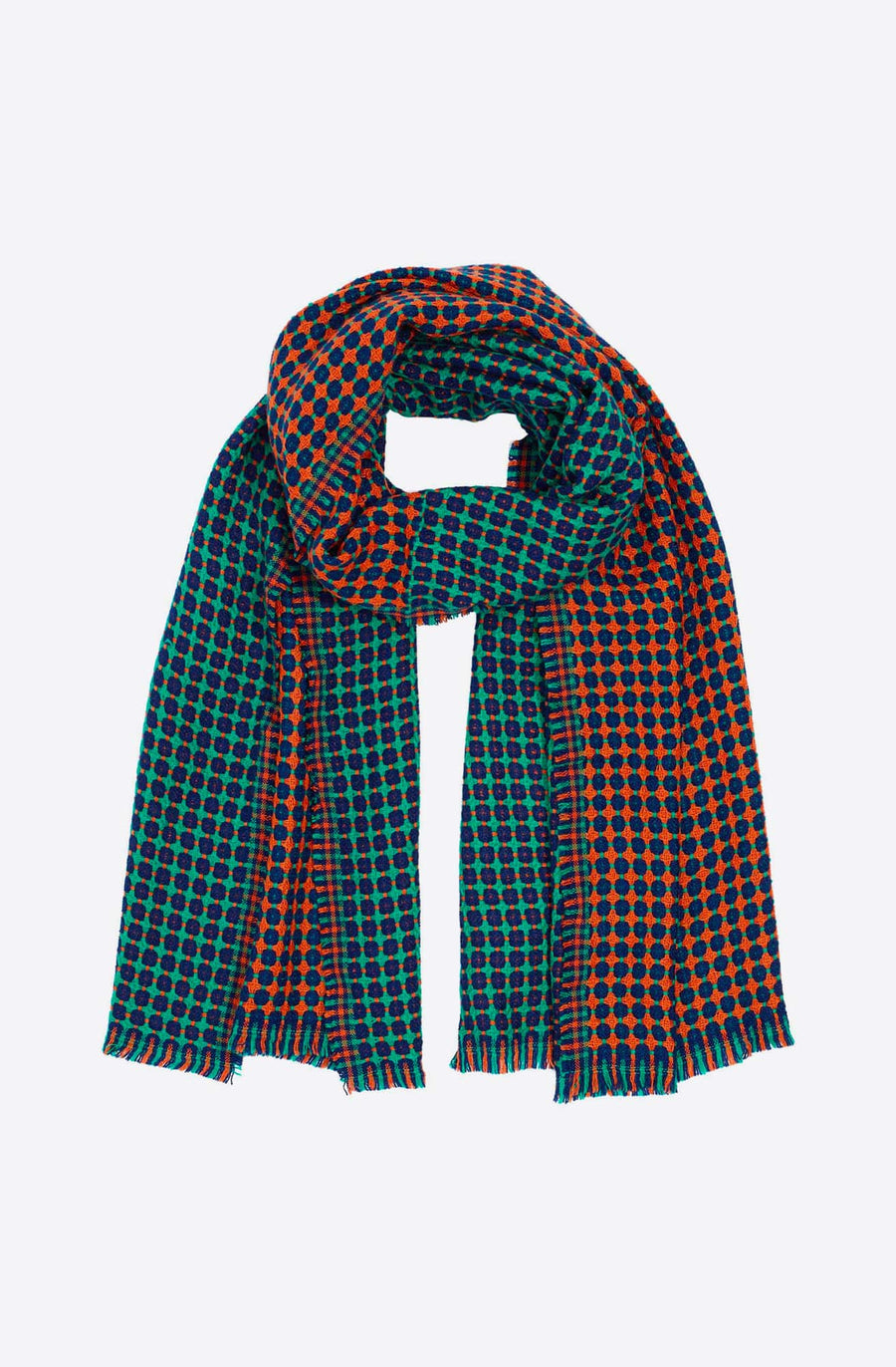 Cross Dot Scarf-orange spice