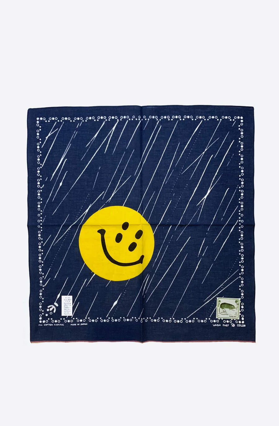Rain Smile Selvedge Bandana-navy