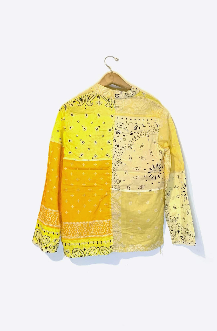 Kakashi Bandana Patchwork Shirt-yellow