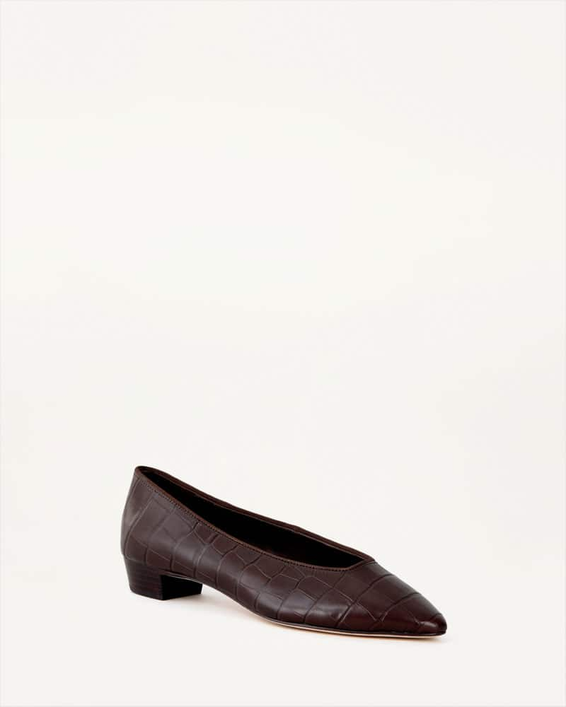 Simone Flat-chocolate