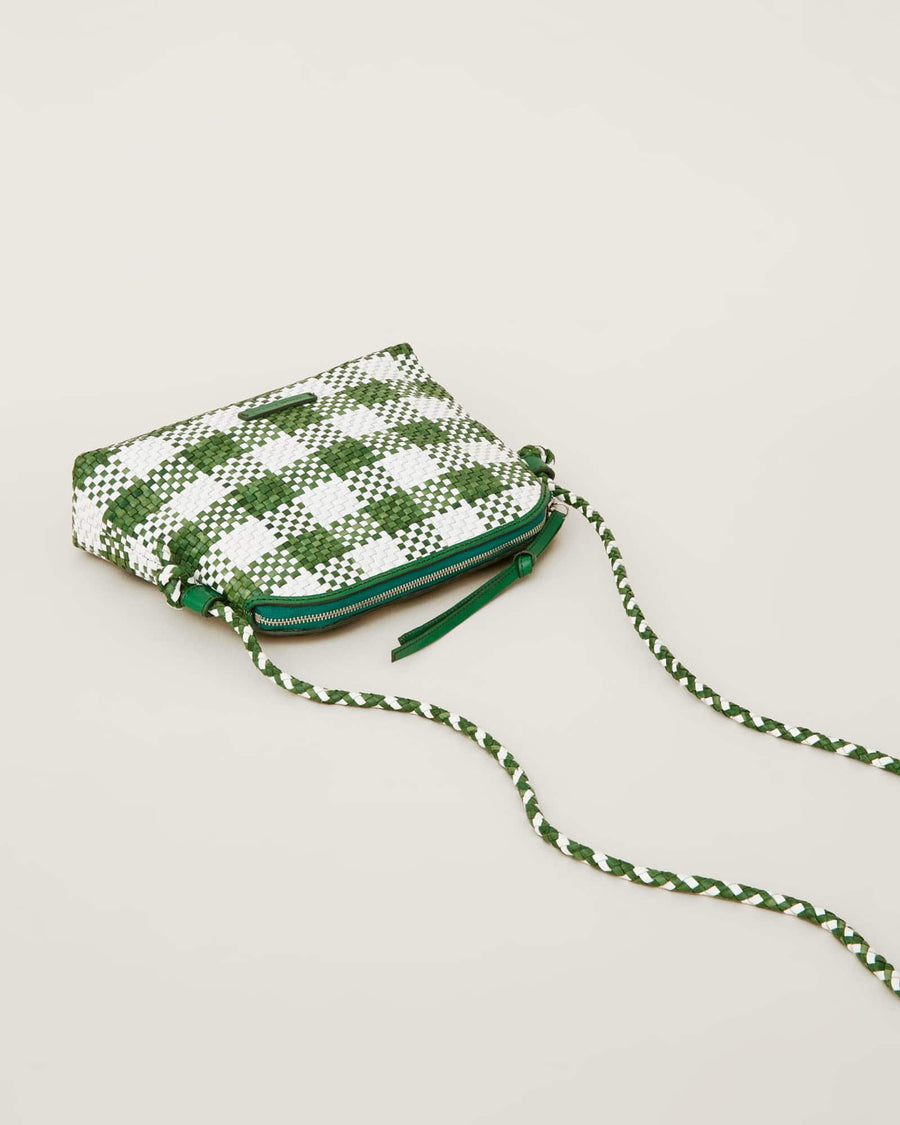 Mallory Crossbody Bag-white/kelly green