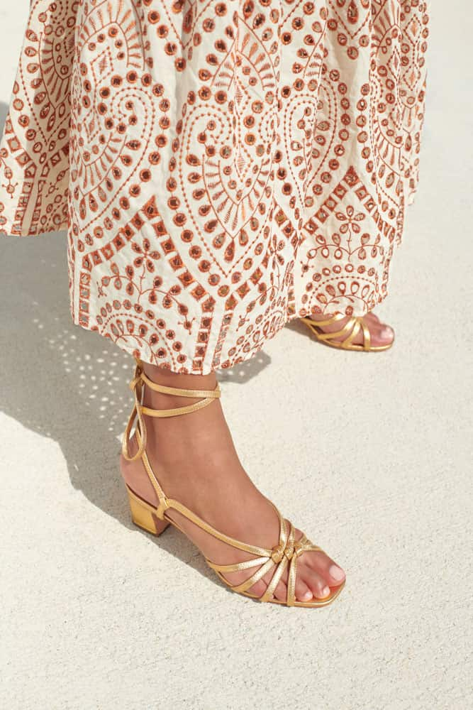 Libby Knotted Wrap Sandal-gold
