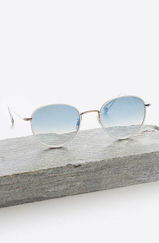 Paloma 50 Gradient Sunglasses-white silver