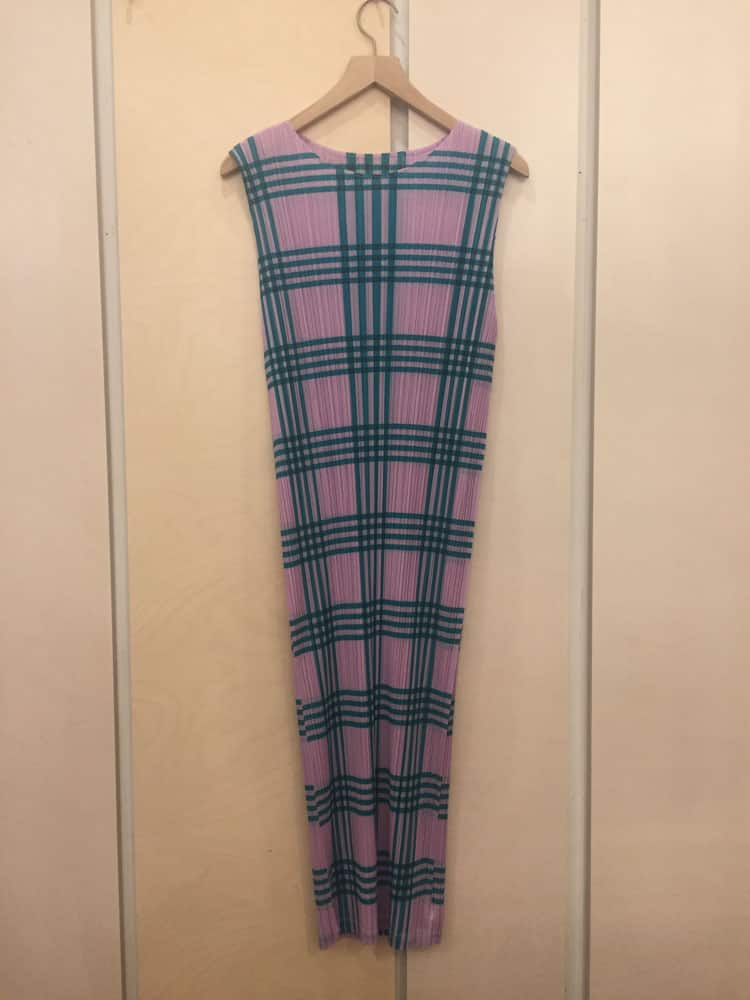 Check Dress-green glen check