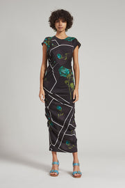 New Delirium Dress-black multi