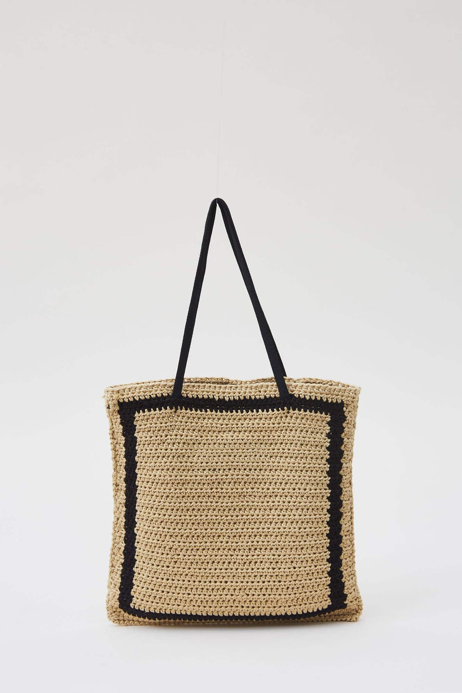 Rool Tote Bag-straw square