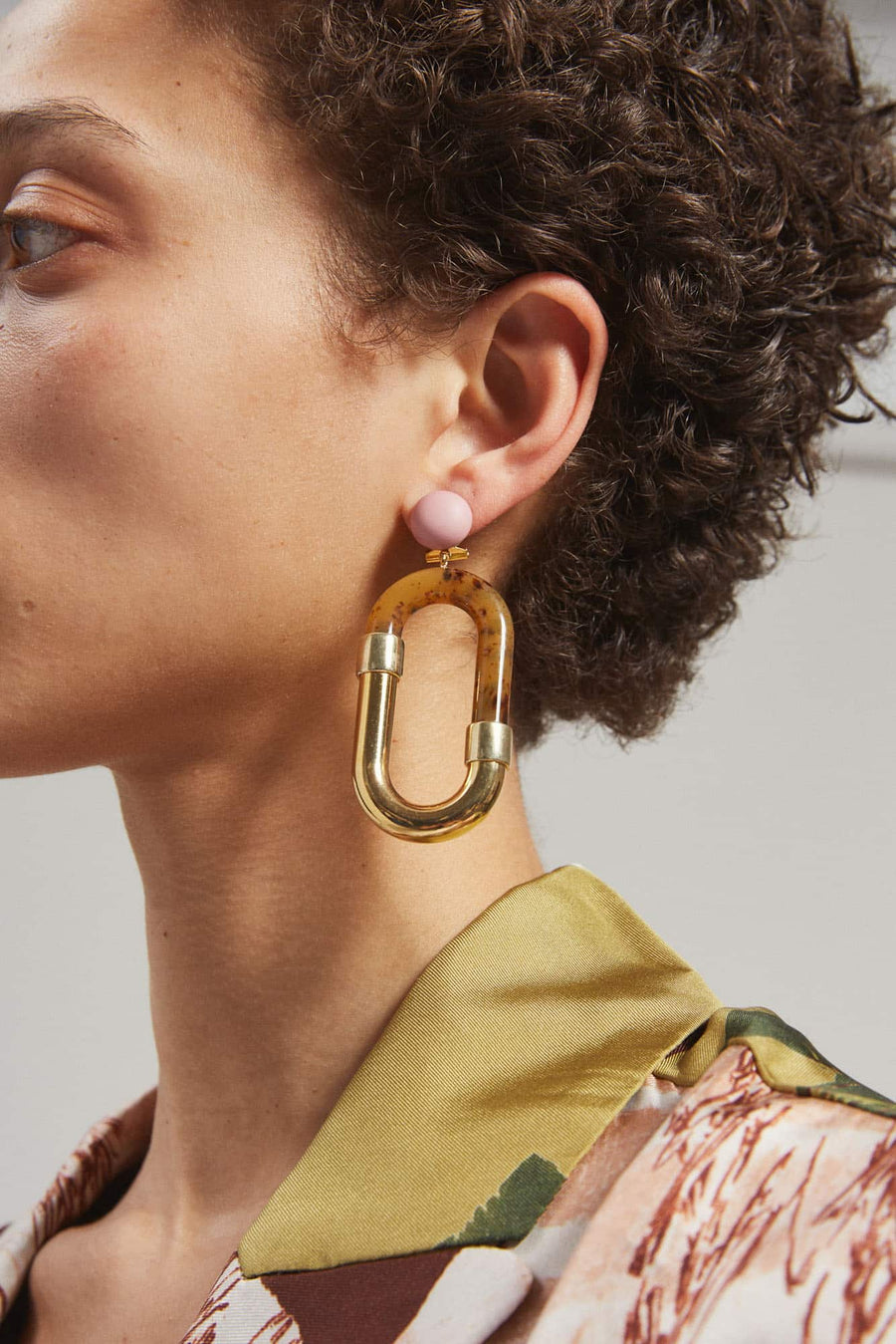 Dial Earrings-ginger-gold