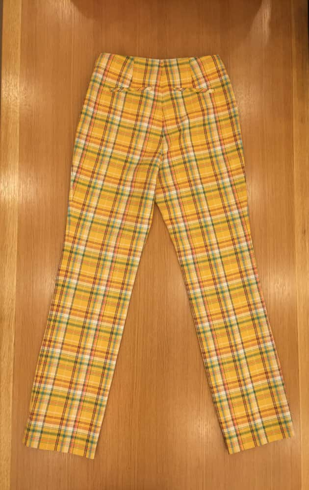 Norma Check Trousers-check yellow
