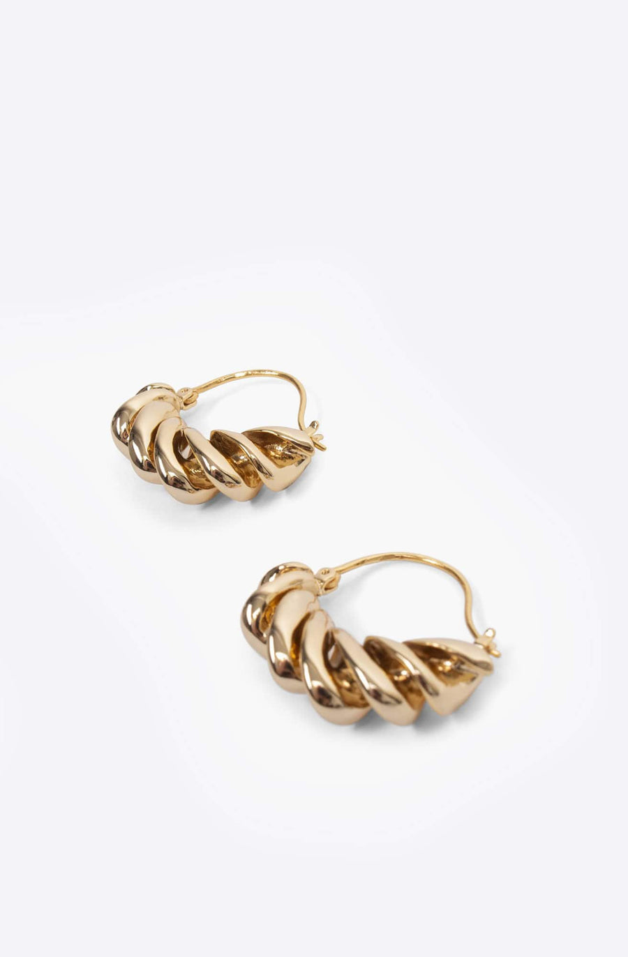 Fusilli Earrings-gold