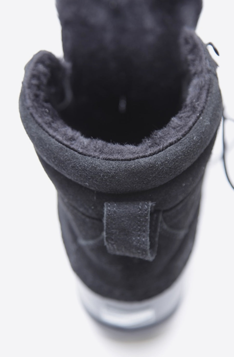 Shearling Duck Boots-black