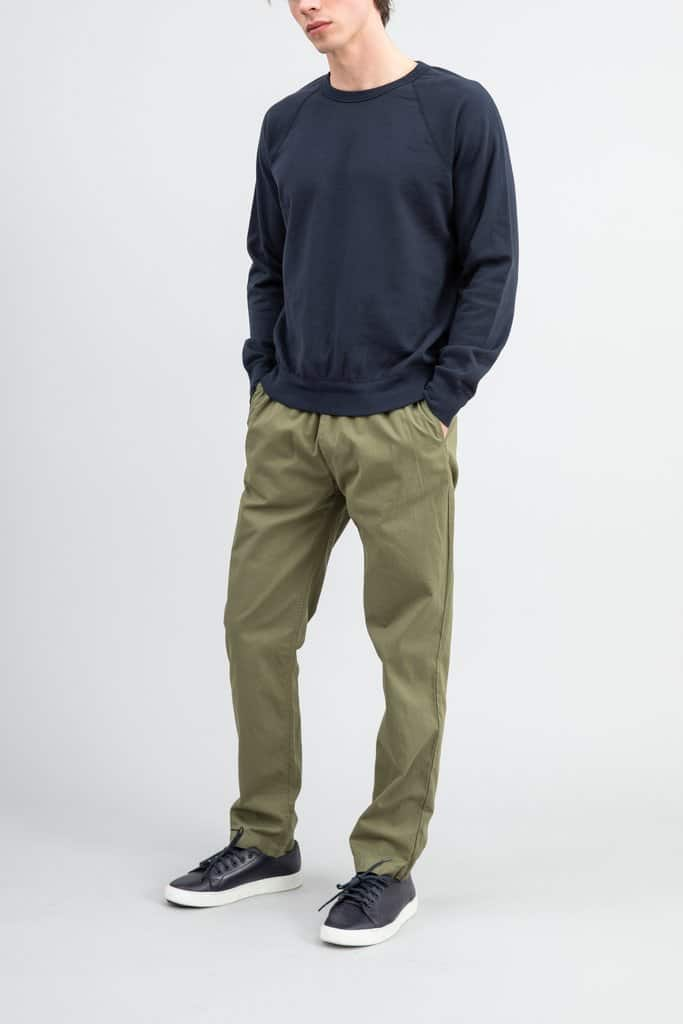 Supima Crew Sweatshirt-navy