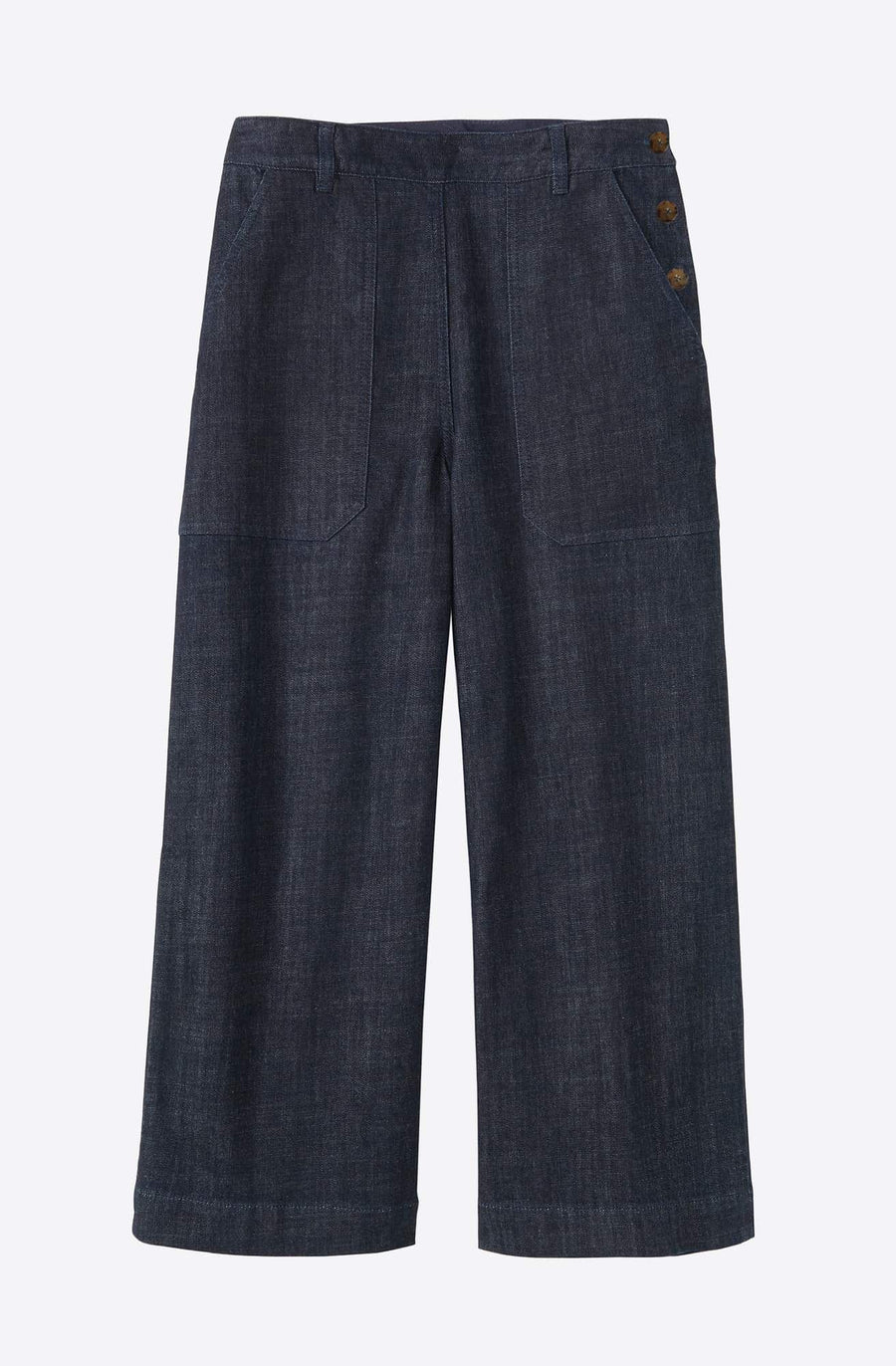 Annie Side Button Jeans-indigo