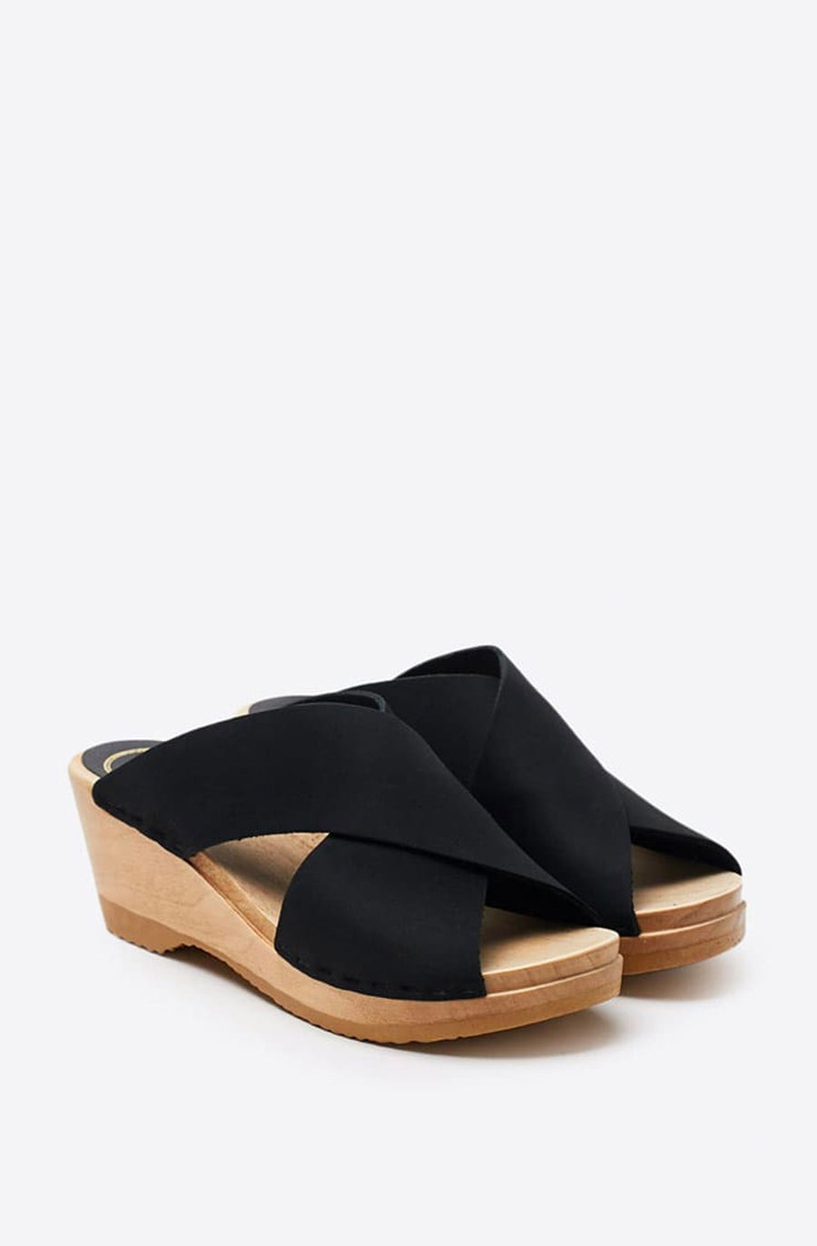 Frida Mid Wedge Clog-midnight