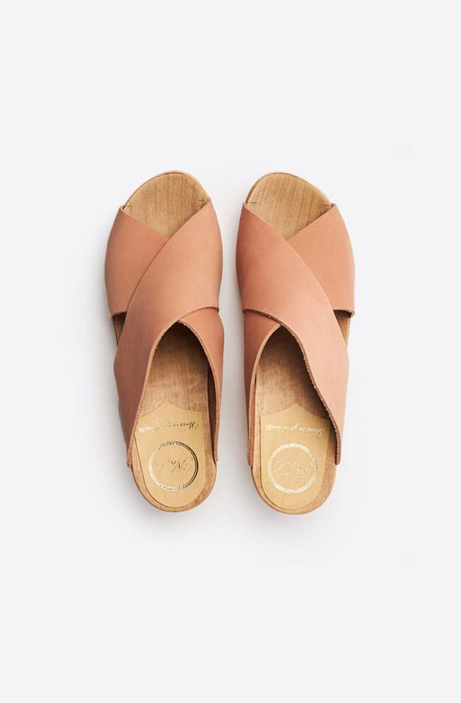 Frida Mid Wedge Clog-pink sand