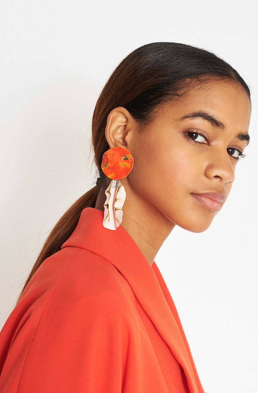 Fender Earring-red/blush