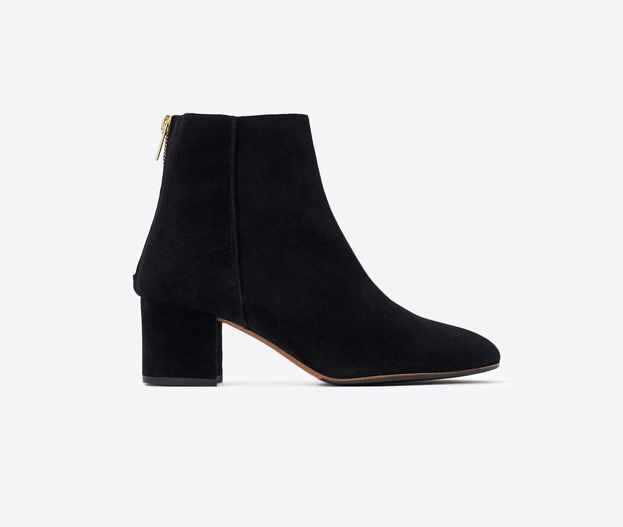 Mei Suede Ankle Boot-black