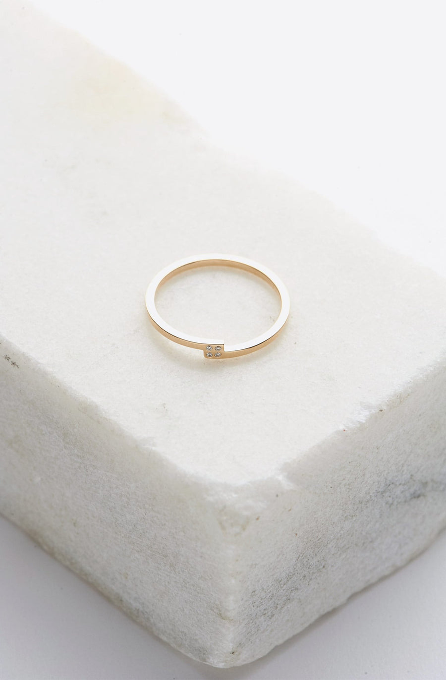 Piva Diamond Ring-14K yellow gold