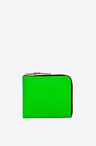 Super Fluo Corner Zip Wallet-blue/green
