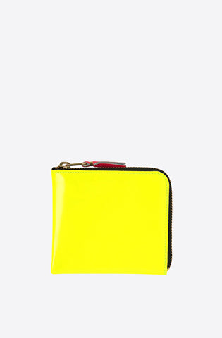 Super Fluo Corner Zip Wallet-yellow/light orange