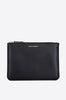 Luxury Group Embossed Large Zip Pouch-black