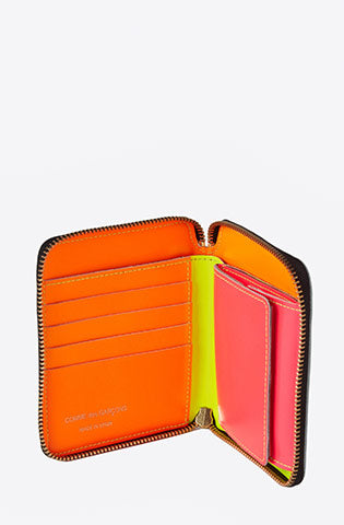 Super Fluo Zip-Around Wallet-yellow