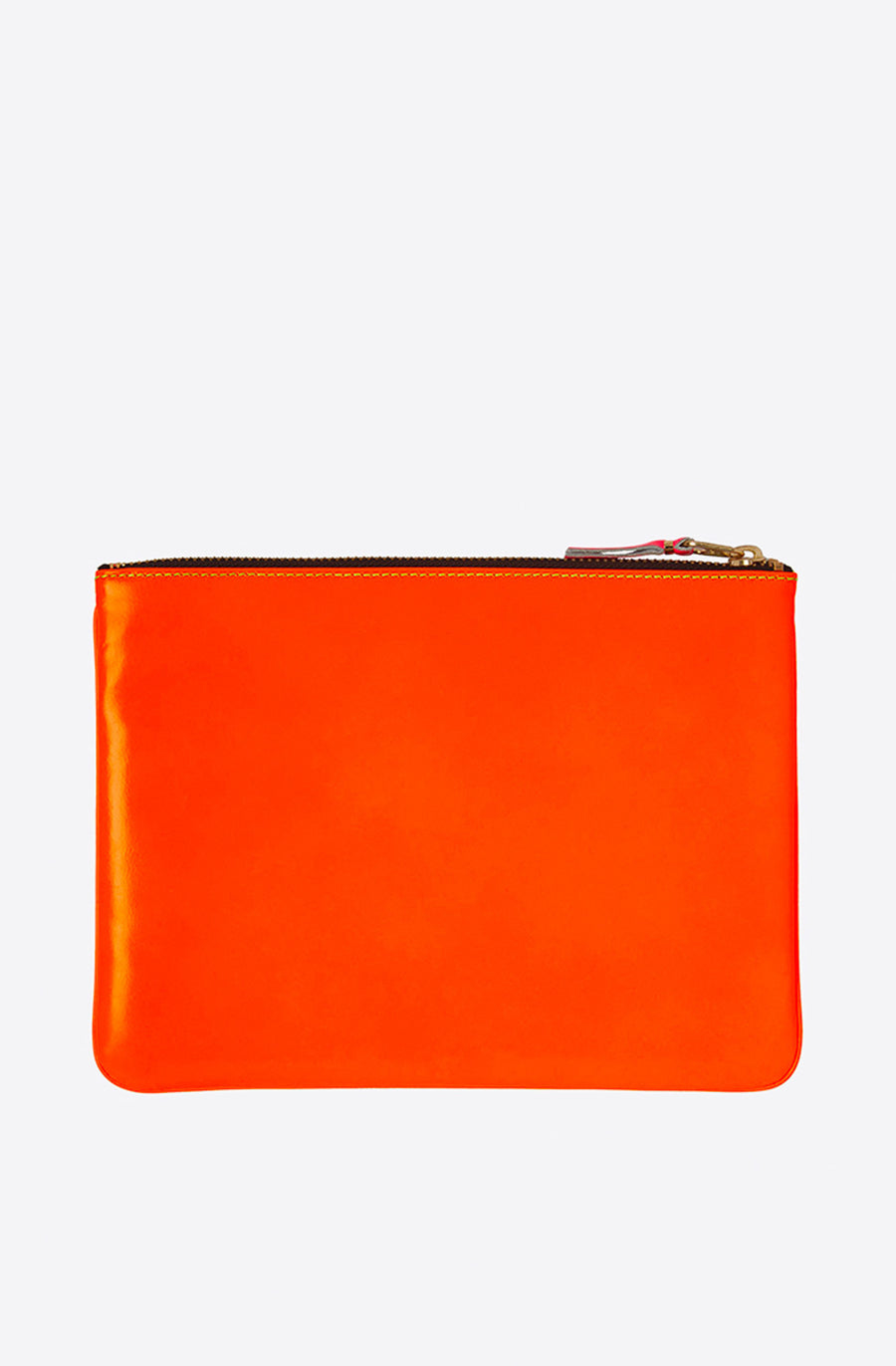 Super Fluo Large Zip Pouch-yellow/light orange