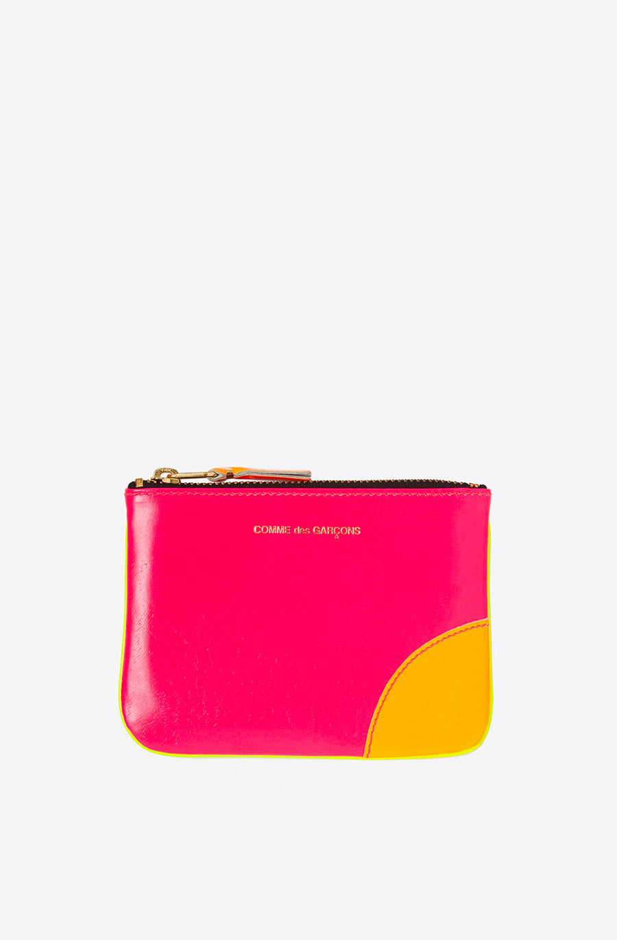 Super Fluo Small Zip Pouch-pink/yellow