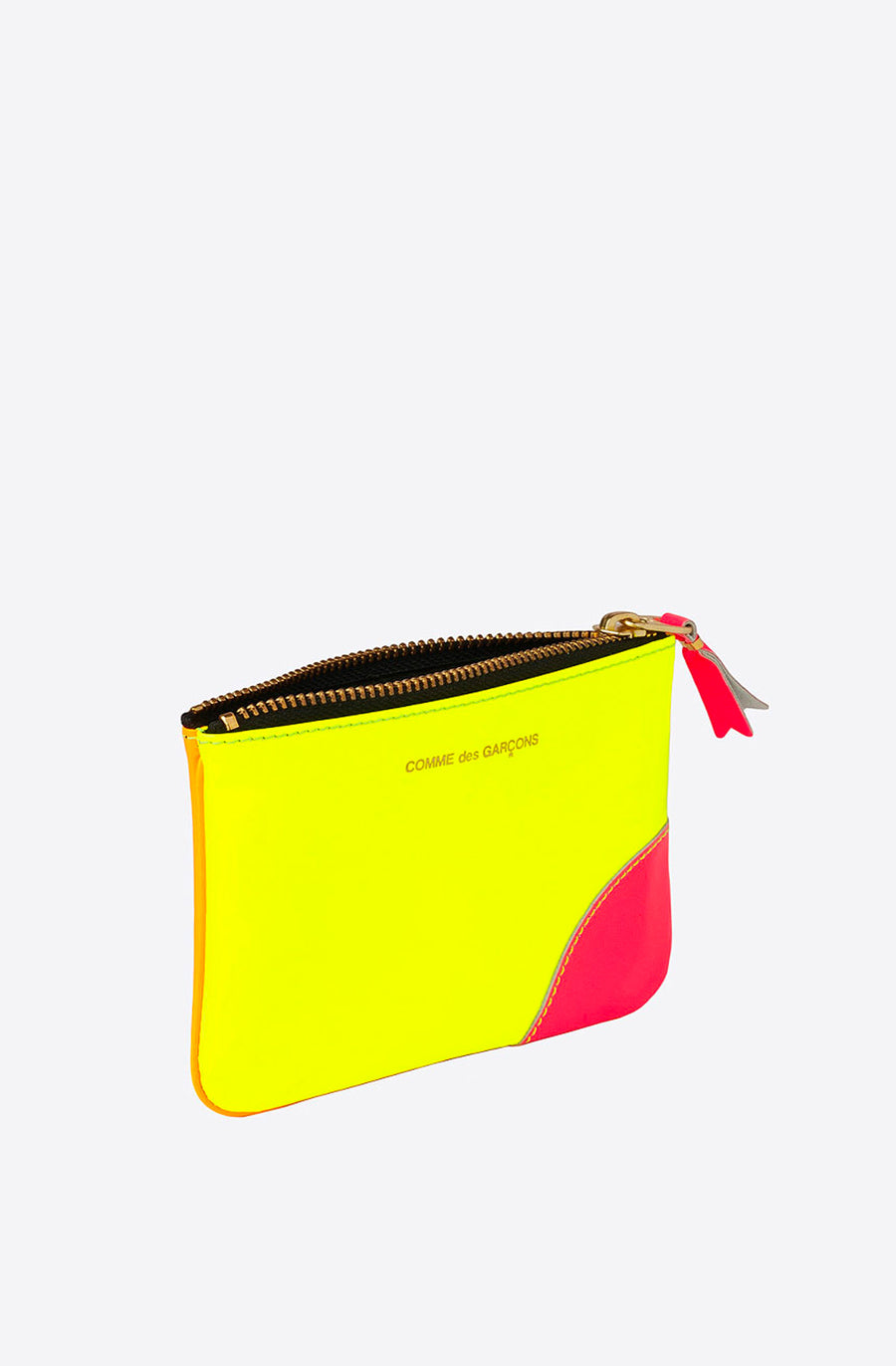 Super Fluo Small Zip Pouch-yellow/light orange